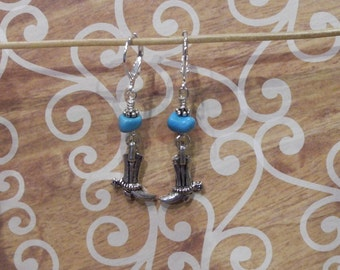 Cowboy Boots Charm Earrings