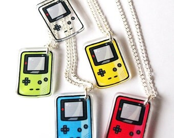 Acrylic Gameboy Color necklace