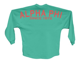 Alpha Phi Since Jersey Choose Your Colors Sorority Oversized Jersey