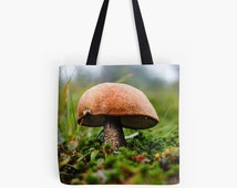 Mushroom Bag | Shopping Bag | Photo Tote Bag | Messenger Bag | Reusable Grocery Bag | Woodland Bag | Farmers Market Bag | Green Tote Bag