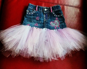 Blue Jean Custom Tutu Skirt