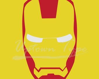 Ironman Minimalist Superhero Poster_ Digital Printable