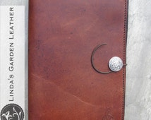 """Handmade Leather Kindle Fire HD 8.9"""" or Nook HD+ 9"""" cover"""