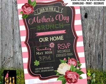 Mother's Day Brunch / Party Invitation - Pink