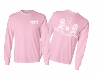 Phi Mu World Famous Crest Long Sleeve T-Shirt
