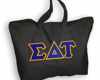 Sigma Delta Tau Lettered Tote Bag