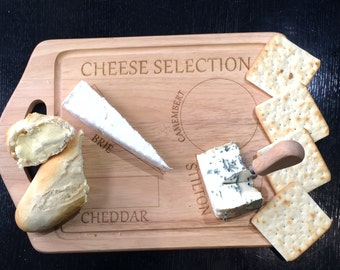 Cheese Selection Chopping Board - Wooden
