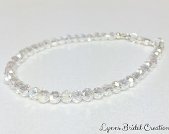 Crystal Wedding Bracelet Wedding Jewelry Bridal Bracelet Jewelry Set Rainbow Crystal Jewelry Bridesmaid Gift Mother of the Bride Gift