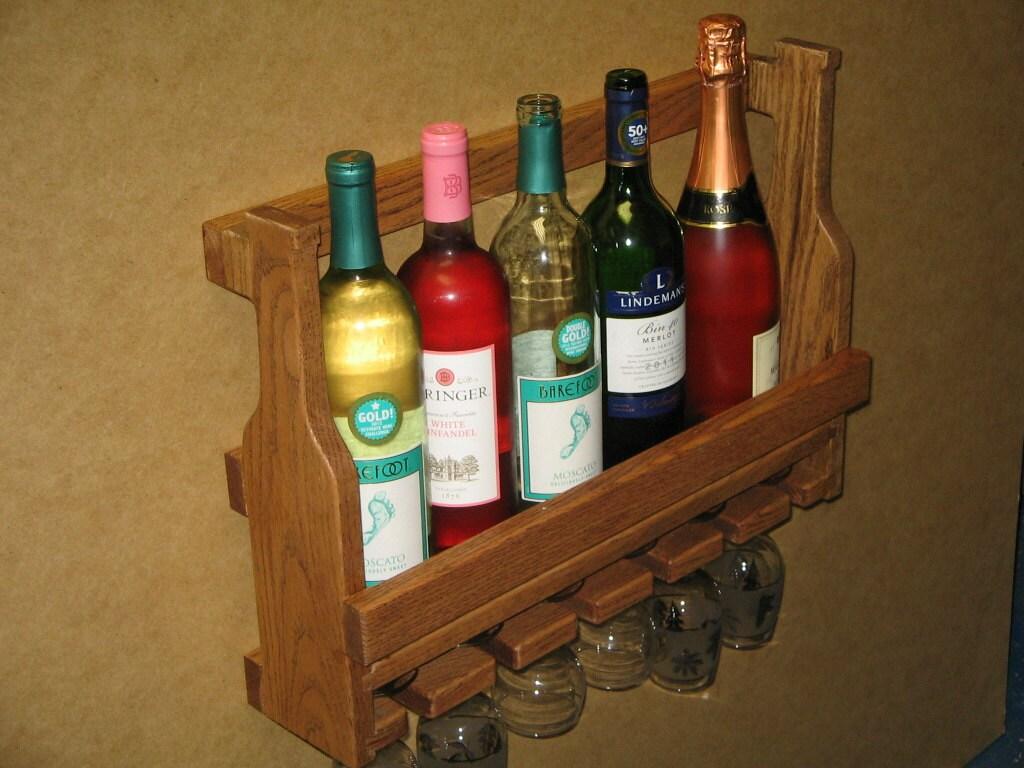 mural ch ne pr sentoir bouteille vin verres par. Black Bedroom Furniture Sets. Home Design Ideas