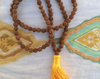 Nepal Rudraksha  Beads tassel necklace