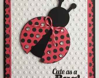 "Handmade ""Cute as Bug"" Birthday Card"
