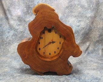 Beautiful Handcrafted Clock, Locust