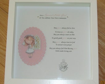 Communion Girl picture frame