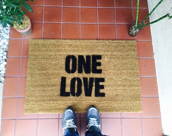One Love Jamaican Doormat By One Summer