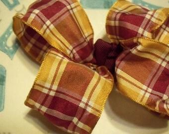 """4"""" plaid hair bow"""