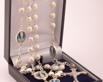 Our Lady Immaculate Rosary Beads. A Lovely First Holy Communion Gift. Unique set of Rosary Beads.