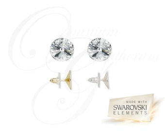 Crystal Clear Swarovski Earrings 14mm (OG-E-00001)
