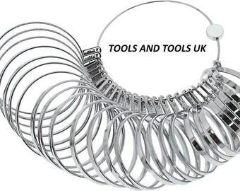 Heavy Duty Bracelet / Bangle Sizer Chrome Plated 27 Piece Jewelry Sizing Tool