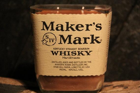 Maker's Mark Whisky Candle, Valentines Present For Guys, Bourbon Gift, Gift For Men, Guy Gift, Valentines Present For Him, Man Cave Present