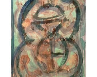O for Love Series #4.  Giclee Fine Art Print, Abstract Art, Wall Art, Home Office Decor