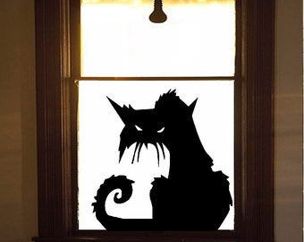 Scary CAT #2 Wall or Window Decal : Halloween