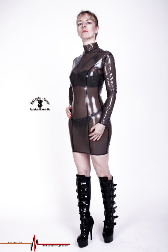 Clear Latex Dress - Thick Mature Porn-7132