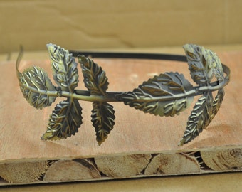 Bronze Filigree Foliage metal Headband--4pcs Antiqued Bronze Filigree Maple Leaf Headband.