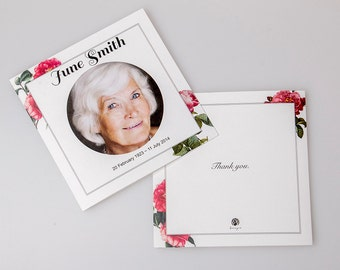Custom Printed Memorial Card (Square Booklet)