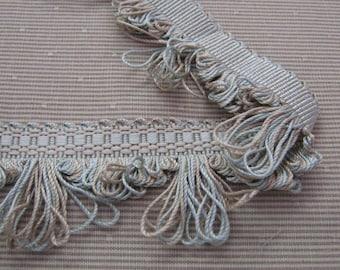Pale Aqua and Tan Loop Fringe