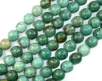 Dragon Blood Jasper Beads, Round, 12 mm, 16 Inch, Full strand, 34 beads, Hole 1 mm (207054001)