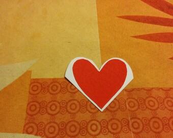 Boekenlegger heart corner/Corner bookmark heart
