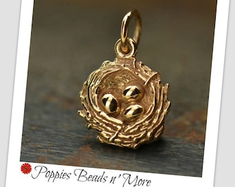 Bronze Bird Nest Charm