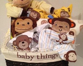 Monkey Dew Baby Basket