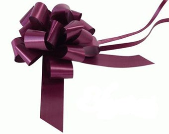 1 Bow Wedding Car Kit in Aubergine - 1 Bow and Ribbon