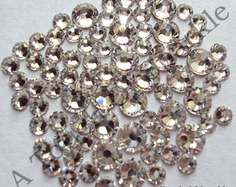 Genuine Swarovski Elements Crystals, Clear/Crystal, 2058 Foiled Flat Backed