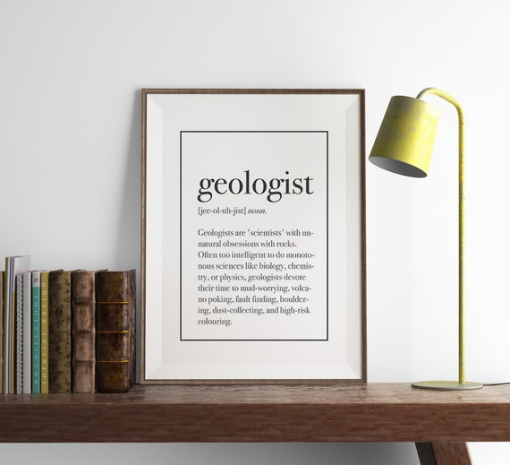 Geologist definition print funny geology wall art art for Decor definition