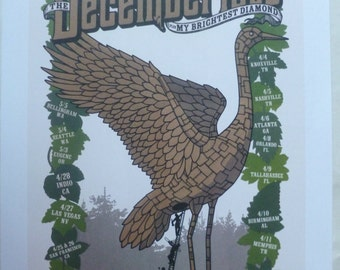 The Decemberists U.S. Tour, 2007 - Poster (35cm x 25cm)