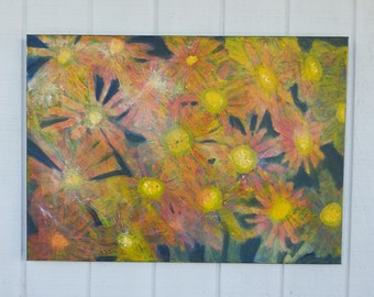 Abstract Painting - Flower Painting - Yellow Painting