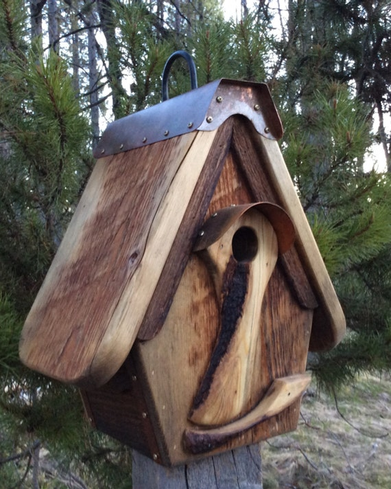 Items similar to unique birdhouse handmade barnwood for Quirky items for sale