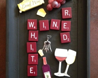 Mixed Media Wine Collage