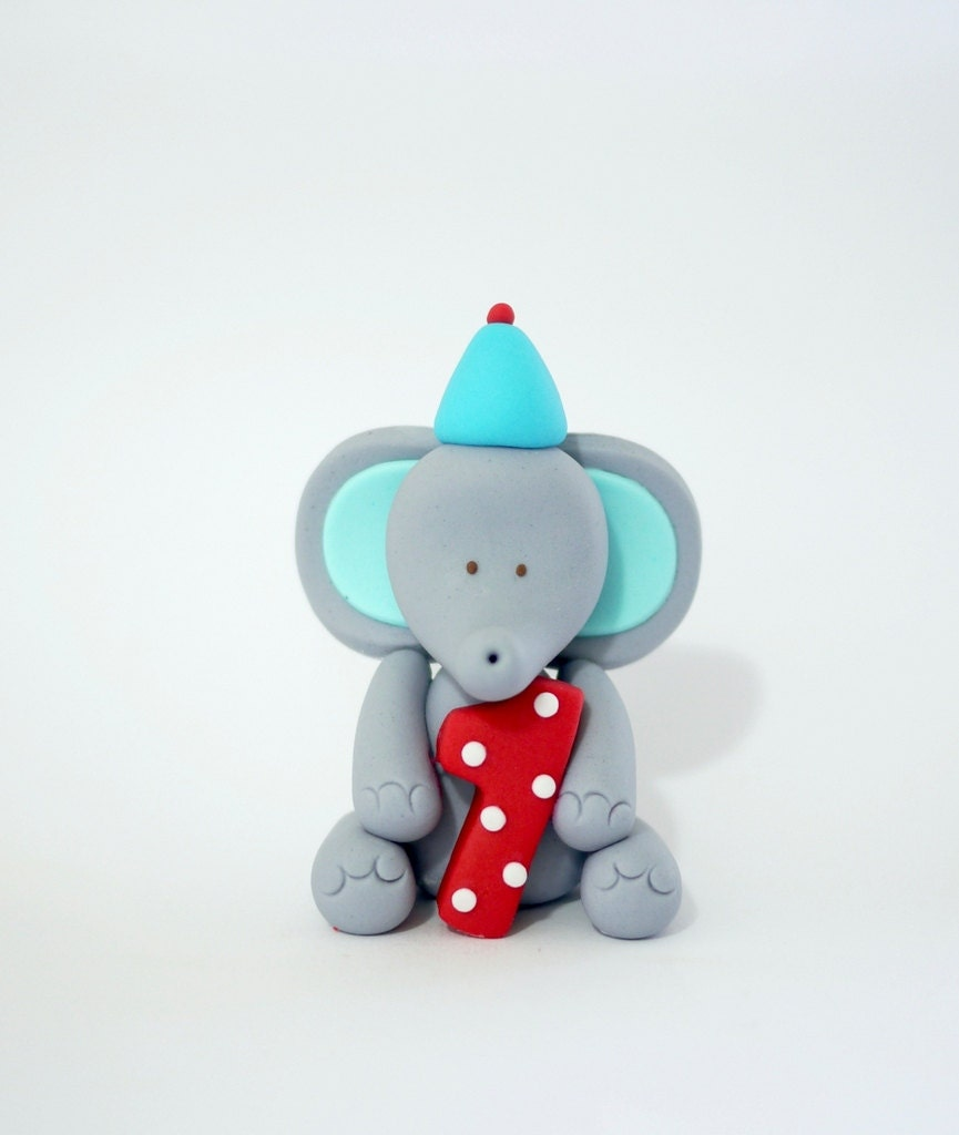 Edible Elephant Cake Decorations : Fondant Elephant Topper. Edible Elephant Cupcake Topper Cake