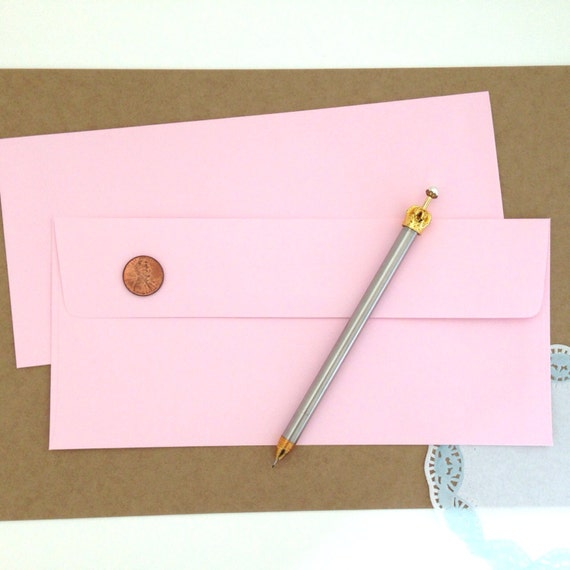 pink pocket letter envelope light pink by existentialsupplies With pink letter envelopes