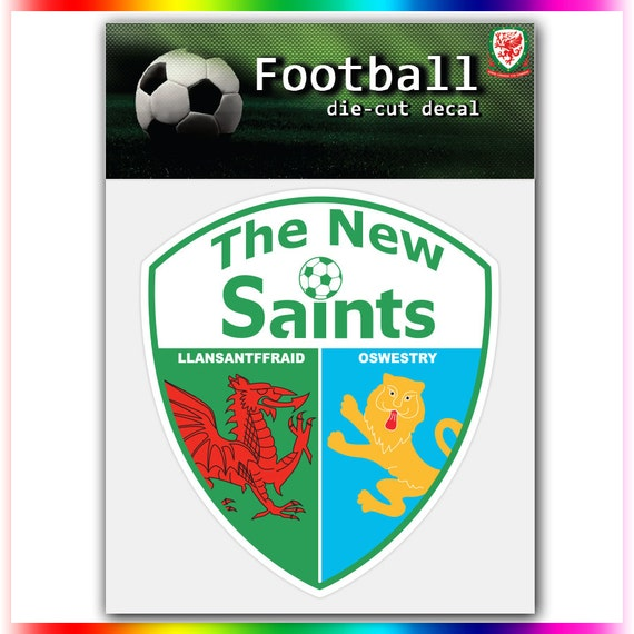 the new saints fc wales uefa football logo decal by stickerforfun. Black Bedroom Furniture Sets. Home Design Ideas