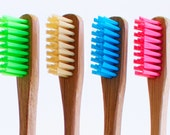 Bam•Brush - 100% Biodegradable Bamboo Toothbrush, Eco Friendly, Green, Blue, Pink, Natural, Earth, Holder, Toothbrush, Wood, 4 pack, 12 pack