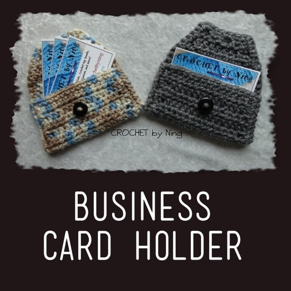 Crocheting Business : Business Card Holder Crochet Calling Card holder by crochetbyning