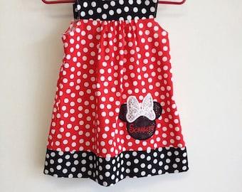 Minnie Mouse girls polkadot dress