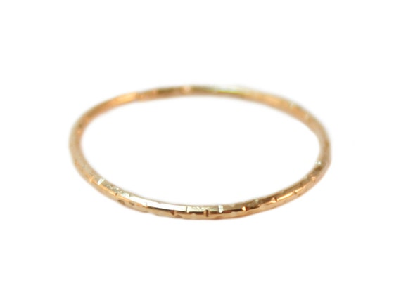 simple gold ring simple gold band tiny by shimmermethisdesigns
