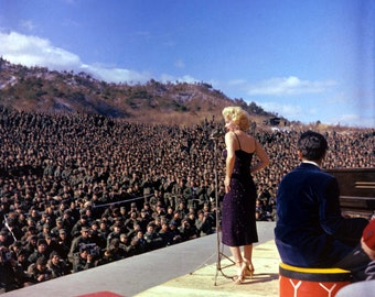 Marilyn Monroe Performing For The Troops USO Poster Art Artwork Photo 12x12