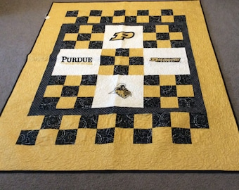 "Boilermakers Quilt 51"" x66"""