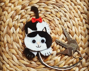 Keychain / Guardallaves cat-shaped for carrying in the bag, Koda Cat